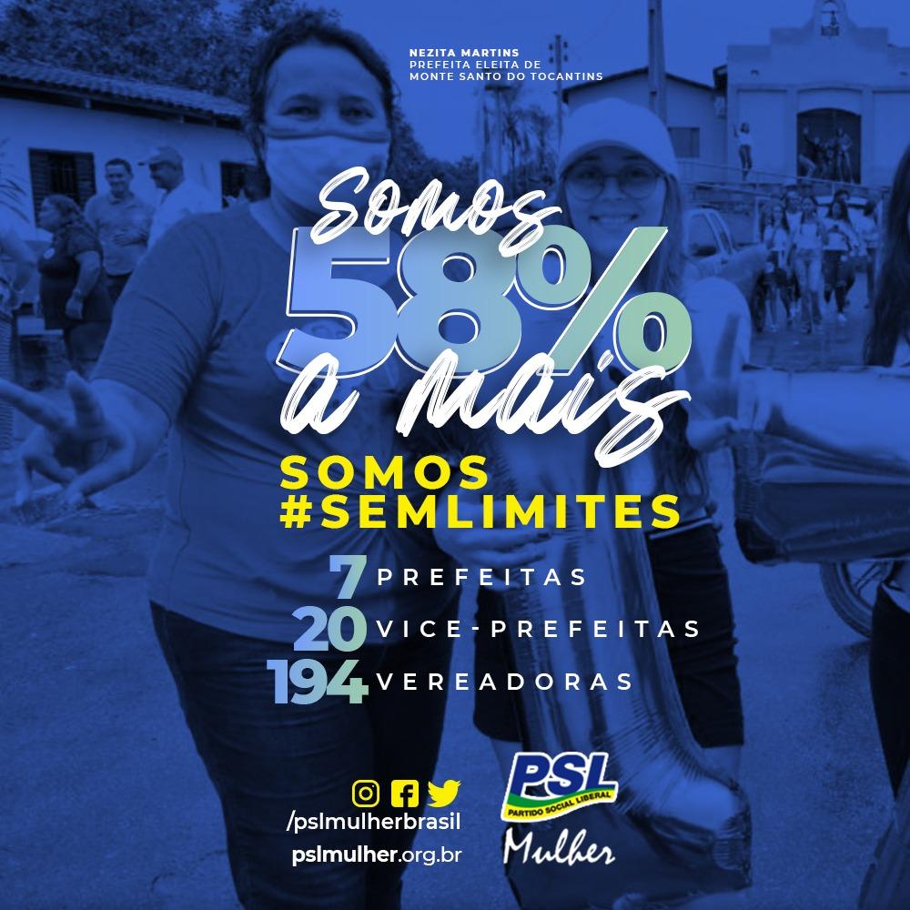 O PSL Mulher comemora o desempenho nas eleições de 2020.